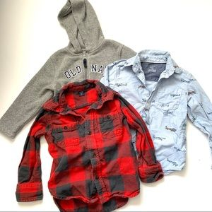 Boys Bundle of 3 Long Sleeve Tops Shirts 3T